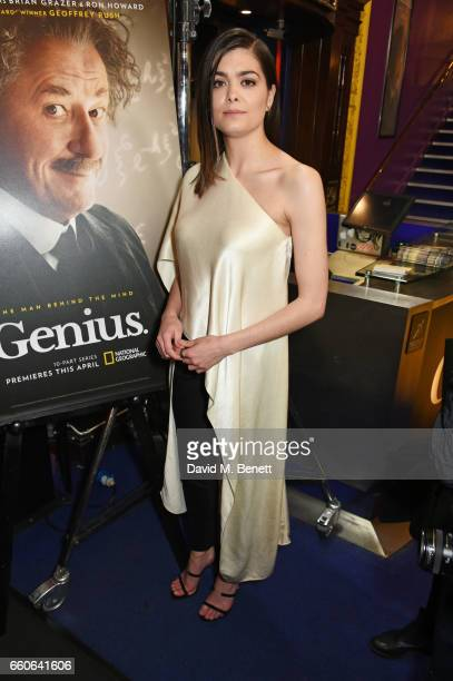 Samantha Colley attends the London Premiere of the National Geographic Channel's 'Genius' at the Cineworld Haymarket on March 30 2017 in London...