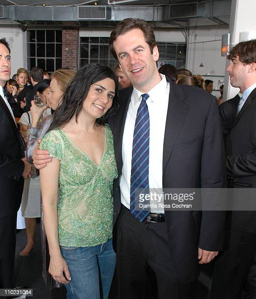 Samantha Daniels and Alex Michel during Jungle Boogie 2005 at Tribeca rooftop in New York City New York United States