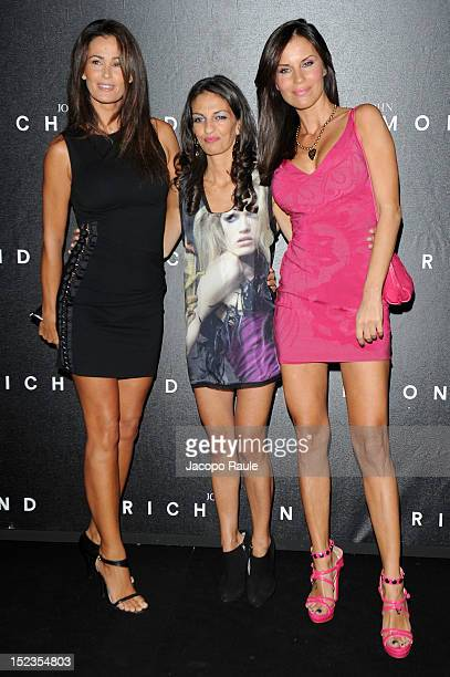 Samantha De Grenet Alessandra Moschillo and Antonella Mosetti attend the John Richmond Spring/Summer 2013 fashion show as part of Milan Womenswear...
