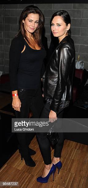 Samantha De Grenet and Anna Safroncik attend the 2009 HIVideo spot award at Alcatraz on November 29 2009 in Milan Italy
