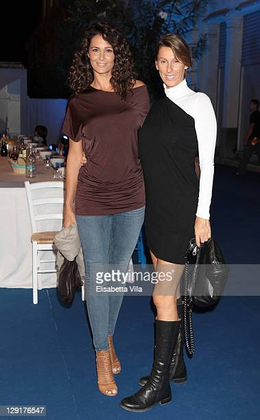 Samantha De Grenet and Ilaria De Grenet attend 'Mamma Mia' Rome Launch at Teatro Brancaccio on October 13 2011 in Rome Italy