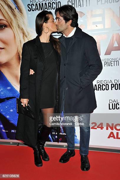 Samantha De Grenet and Luca Barbato walk a red carpet for 'La Cena Di Natale' on November 22 2016 in Rome Italy