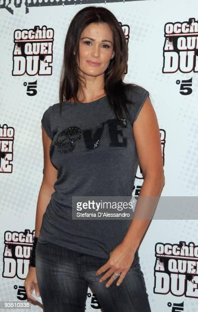 Samantha De Grenet attends 'Occhio A Quei Due' Premiere held at Apollo Cinema on November 30 2009 in Milan Italy