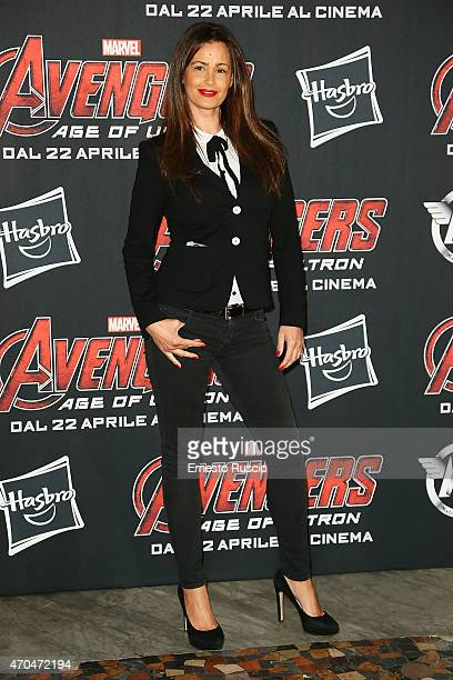Samantha de Grenet attends the 'The Avengers' premiere at The Space Moderno on April 20 2015 in Rome Italy