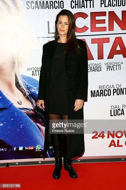 Samantha de Grenet walks a red carpet for 'La Cena Di Natale' at Cinema Adriano on November 22 2016 in Rome Italy