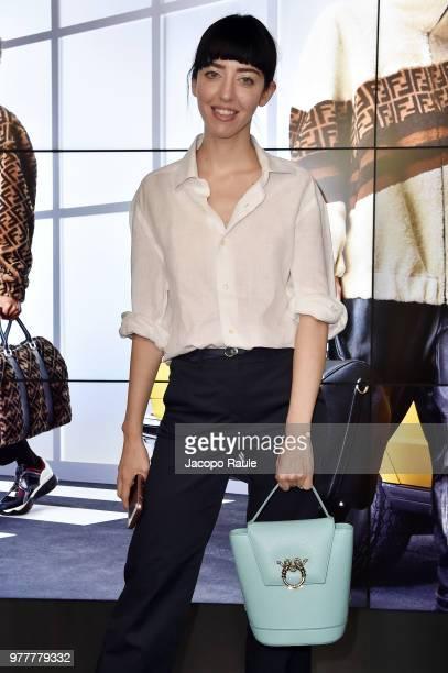 Samantha De Reviziis attends the Fendi show during Milan Men's Fashion Week Spring/Summer 2019 on June 18 2018 in Milan Italy