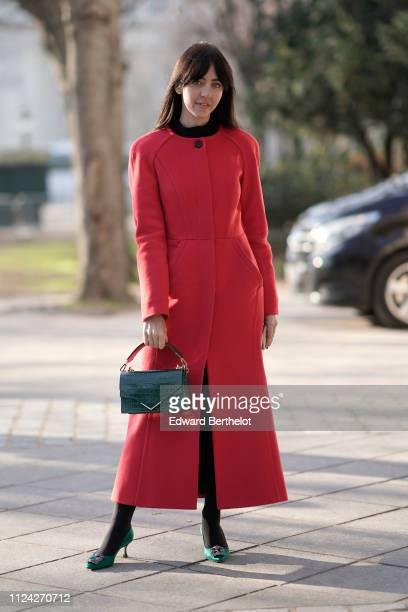 Samantha De Reviziis attends the Ulyana Sergeenko Spring Summer 2019 show as part of Paris Fashion Week at Theatre Marigny on January 21 2019 in...