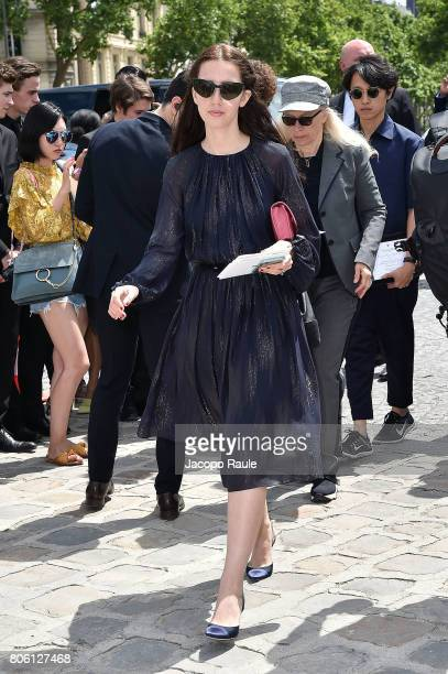Samantha De Reviziis is seen arriving at the 'Christian Dior' show during Paris Fashion Week Haute Couture Fall/Winter 20172018 on July 3 2017 in...