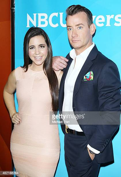 Samantha DeBianchi and Chris Leavitt arrive at the 2014 Television Critics Association Summer Press Tour - NBCUniversal - Day 2 held at The Beverly...