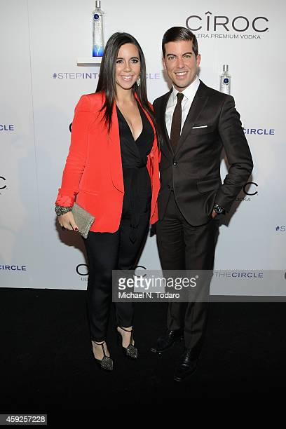 Samantha DeBianchi and Luis Ortiz attend CIROC's 'Step Into The Circle' Launch hosted by Sean Diddy Combs in Times Square on November 19 2014 in New...