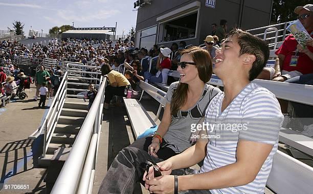 Samantha Droke and Allen Evangelista visit Sea World in San Diego on October 9 2009 in San Diego California