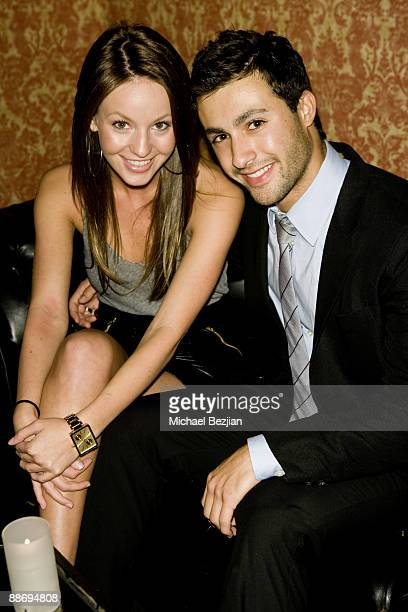 Samantha Droke and Josh Kaplan attend the LaurenElaine designs runway event at Le Doux on June 25 2009 in Los Angeles California
