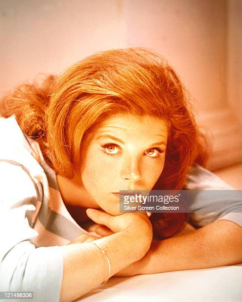Samantha Eggar British actress poses with her chin resting in her hand circa 1970