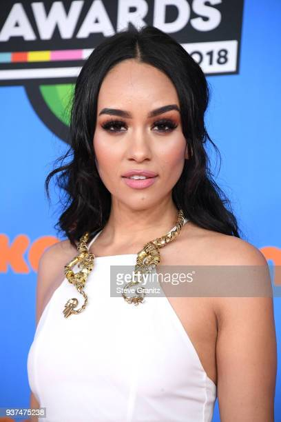 Samantha Elizabeth attends Nickelodeon's 2018 Kids' Choice Awards at The Forum on March 24 2018 in Inglewood California