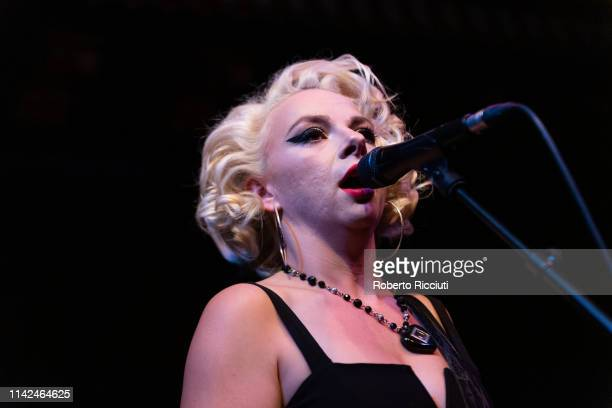 Samantha Fish performs on stage at The Voodoo Rooms on May 9, 2019 in Edinburgh, Scotland.