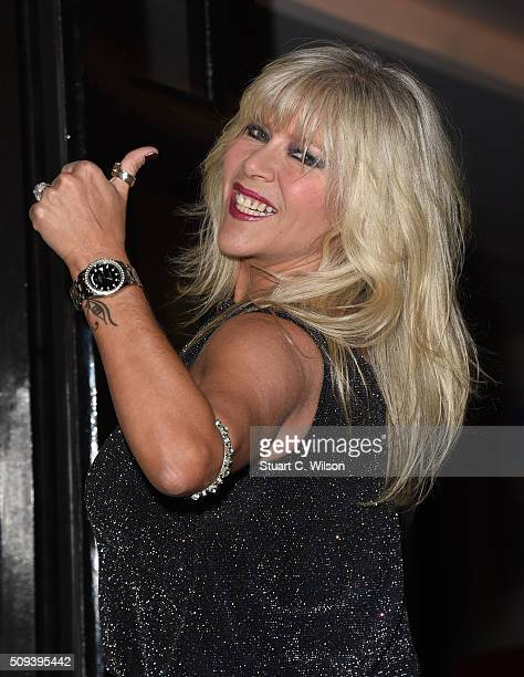 Samantha Fox attends as Leona Lewis Hosts the KISS Beauty Launch at The Haymarket Hotel on February 10, 2016 in London, England.