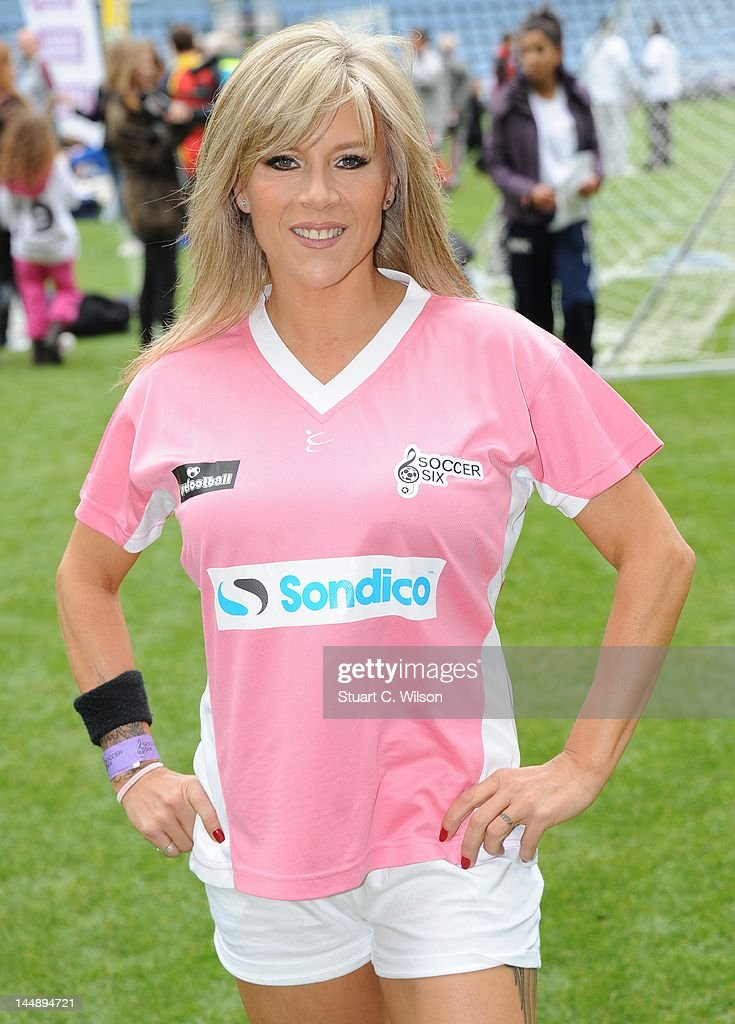 Samantha Fox attends the Celebrity Soccer Six 2012 Tournament at Upton Park on May 20, 2012 in London, England.