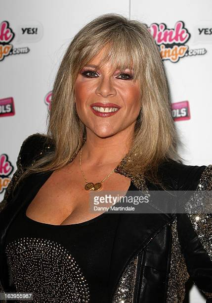 Samantha Fox attends the Wink Bingo Celebrity Female Take Over on March 18 2013 in London England