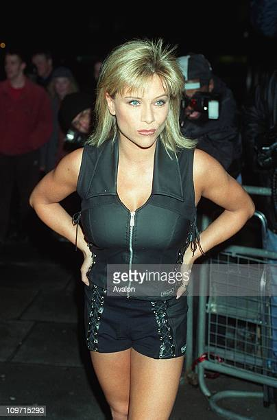Samantha Fox British Glamour Model and Singer Seen arriving at Sticky Fingers restaurant for the 'Jokeathon' to raise money for The Daniels...