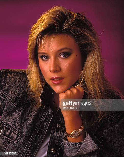 Samantha Fox during Singer Samantha Fox 1987 Photo Session at Private Location in Los Angeles California United States