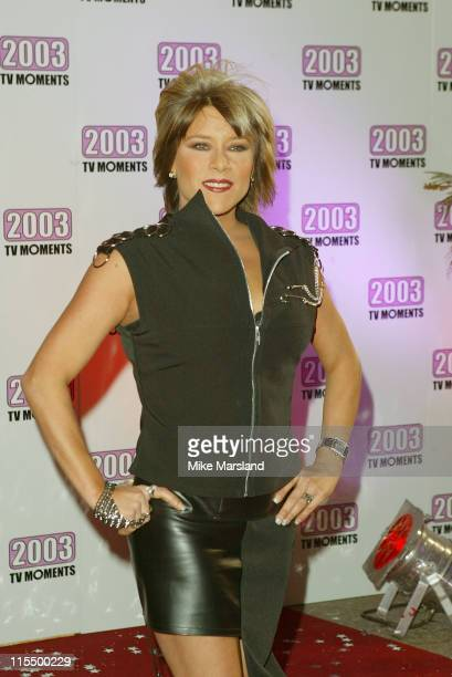 Samantha Fox during The Best of 2003 TV Moments - Arrivals at BBC Television Centre in London, Great Britain.