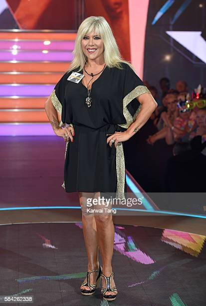Samantha Fox enters the Big Brother House for the Celebrity Big Brother launch at Elstree Studios on July 28, 2016 in Borehamwood, England.