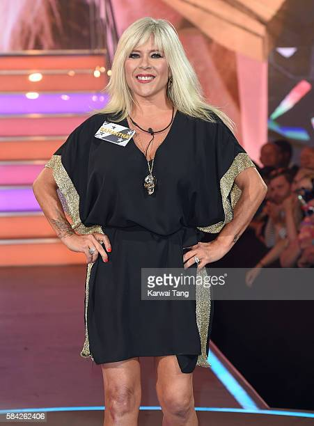 Samantha Fox enters the Big Brother House for the Celebrity Big Brother launch at Elstree Studios on July 28 2016 in Borehamwood England