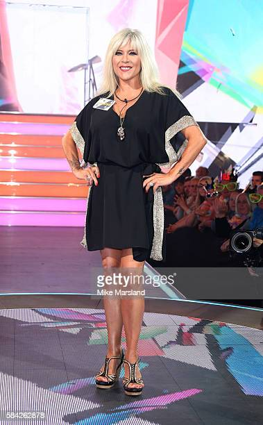 Samantha Fox enters the Celebrity Big Brother House at Elstree Studios on July 28, 2016 in Borehamwood, England.