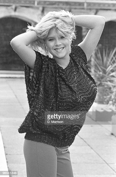 Samantha Fox, glamour model and pop star, 13th November 1984. .