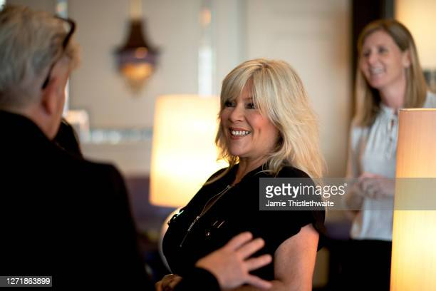 Samantha Fox has a conversation during the Henpire podcast launch event at Langham Hotel on September 10 2020 in London England