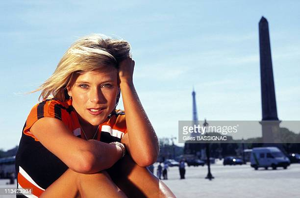 Samantha Fox In Paris  Exclusive On June 15th 1996 In Paris France