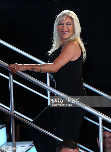 Samantha Fox is evicted from the Celebrity Big Brother at Elstree Studios on August 23 2016 in Borehamwood England