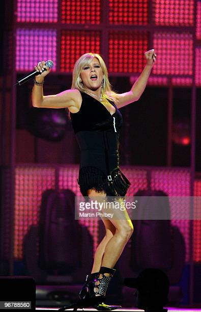 Samantha Fox performs at Countdown Spectacular 2 at the Rod Laver Arena on 30th August 2007 in Melbourne, Australia.