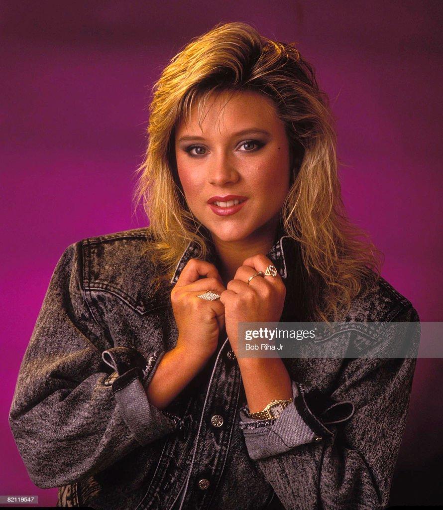 Singer Samantha Fox 1987 Photo Session : News Photo