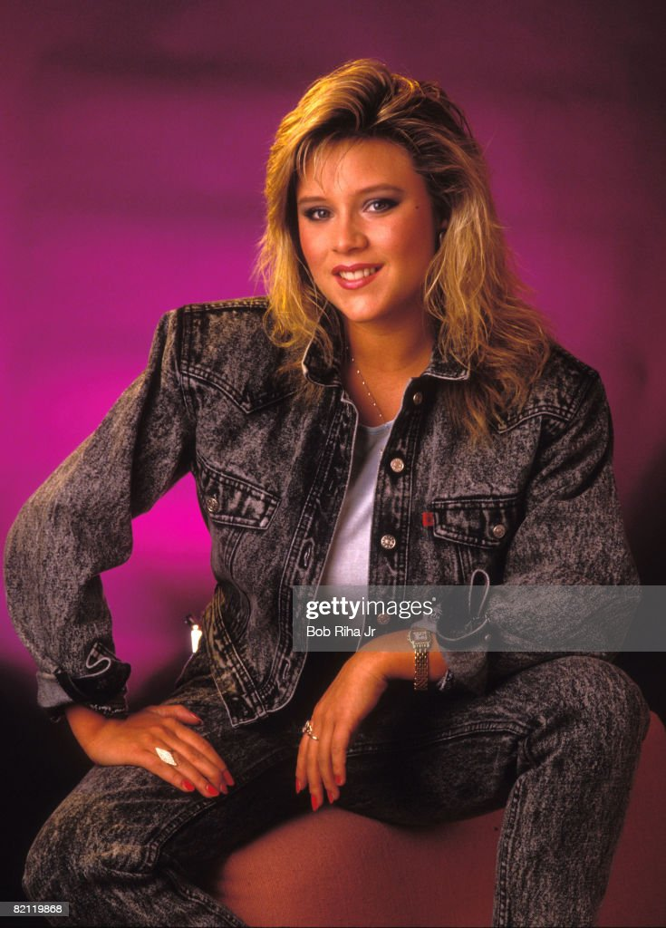 Singer Samantha Fox 1987 Photo Session : Nachrichtenfoto