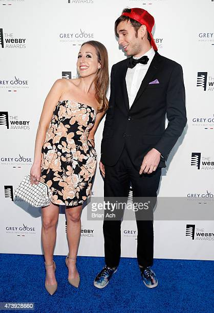 Samantha Freedman and Internet personality Jake Roper attend the 19th Annual Webby Awards on May 18 2015 in New York City