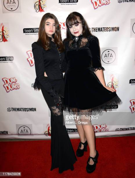 Samantha Gangal and Alyssa de Boisblanc attend Mateo Simon's Annual Teen Line Charity Halloween Bash held at a Private Location on October 26 2019 in...