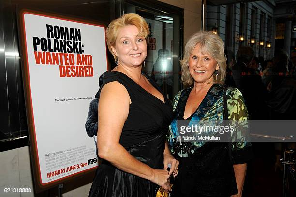 Samantha Geimer and Susan Gailey attend HBO Documentary Films' New York Premiere of 'ROMAN POLANSKI Wanted and Desired' at The Paris Theater on May 6...
