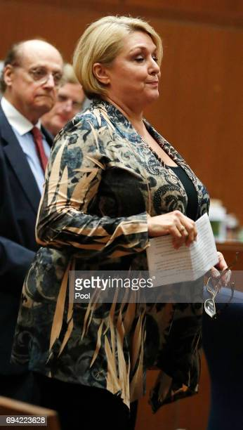 Samantha Geimer appears in court at the Clara Shortridge Foltz Criminal Justice Center on June 9 2017 in Los Angeles California Geimer was assaulted...