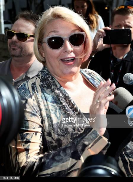 Samantha Geimer arrives at the Clara Shortridge Foltz Criminal Justice Center on June 9 2017 in Los Angeles California