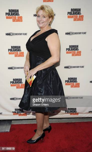 Samantha Geimer attends the premiere of the HBO documentary 'Roman Polanski Wanted and Desired' at the Paris Theatre on May 06 2008 in New York City
