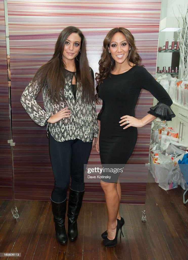 Samantha Giancola and Melissa Gorga attends Lasio Studios Salon Grand Opening at Lasio Studios on February 7, 2013 in New York City.
