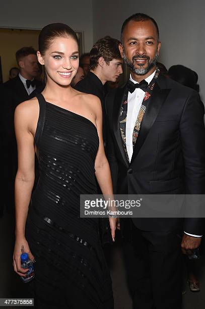 Samantha Gradoville and Ronnie Madra attend the 2015 amfAR Inspiration Gala New York at Spring Studios on June 16 2015 in New York City