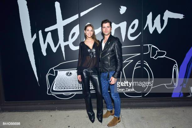 Samantha Gradoville and Sean O'Pry attend Interview Lexus Celebrate September Issue on September 7 2017 in New York City