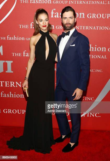 Samantha Gradoville and Sean O'Pry attend the 2017 FGI Night Of Stars Modern Voices gala at Cipriani Wall Street on October 26 2017 in New York City