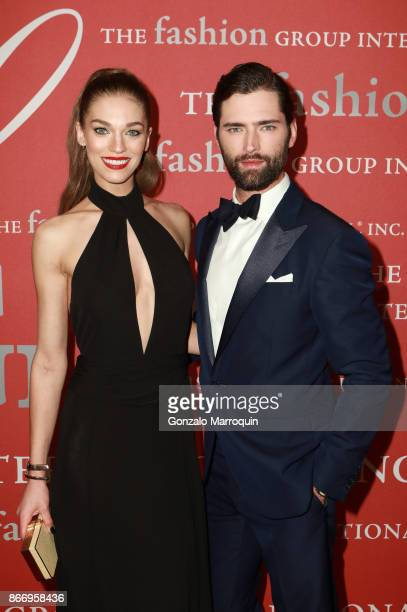 Samantha Gradoville and Sean O'Pry during the Fashion Group International 34th Annual Night of Stars Gala on October 26 2017 in New York City