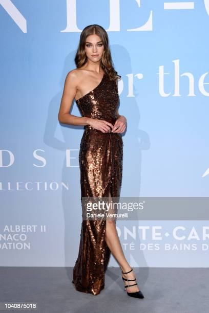 Samantha Gradoville attends the Gala for the Global Ocean hosted by HSH Prince Albert II of Monaco at Opera of MonteCarlo on September 26 2018 in...