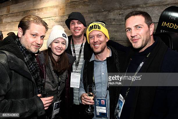 Samantha Grody guest Richard Stafford and Erik Bright attend the private 50th Birthday Party for IMDb's Col Needham Presented By Amazon Video Direct...