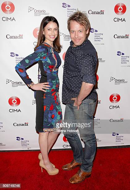 Samantha Gutstadt and Mike Turner attend Canada's Grammy Night at Raleigh Studios on February 11 2016 in Los Angeles California