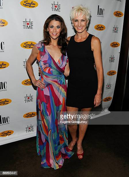 """Samantha Harris and Amra-Faye Wright attend the after party for Samantha Harris' debut as Roxie Hart in """"Chicago"""" on Broadway at Inc. Lounge on July..."""